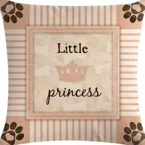 Other - Pillow Cover - New - Little Princess Paw Prints